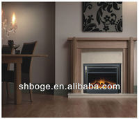 indoor decrotive insert electric fireplace with mantel