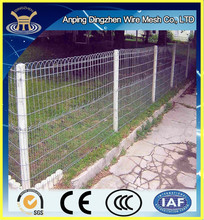 wrought iron double loop ornamental fence /fence gate