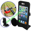 Hot selling Horn Hands-free Amplifier Bike Stand Speaker Silicon Case for iPhone 5 / iPhone 5S (Black)