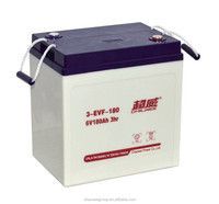 Chilwee Silicone gel deep cycle Battery 6V 180Ah/3hr for electric golf carts and electric road vehicles