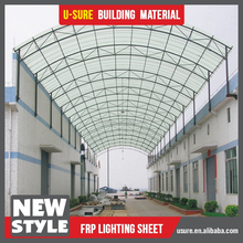 low price transparent plastic roof FRP roofing materials