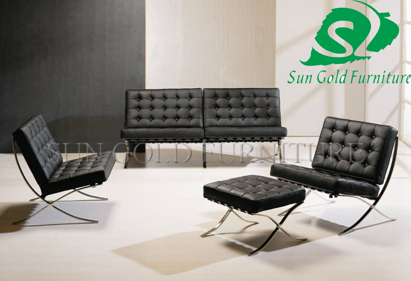 Beau Hot Sell Modern Leather Barcelona Sofa Chair SZ