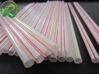 Flexible wide hard plastic drinking straws/decorative straws for party