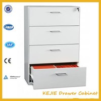 China Modern Lovely Pattern 4 Drawer Cabinet Clothing Metal Drawer Cabinet Steel Cupboard for Kids Bedroom