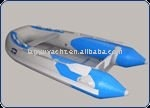 CE inflatable aluminum floor boat LY-410
