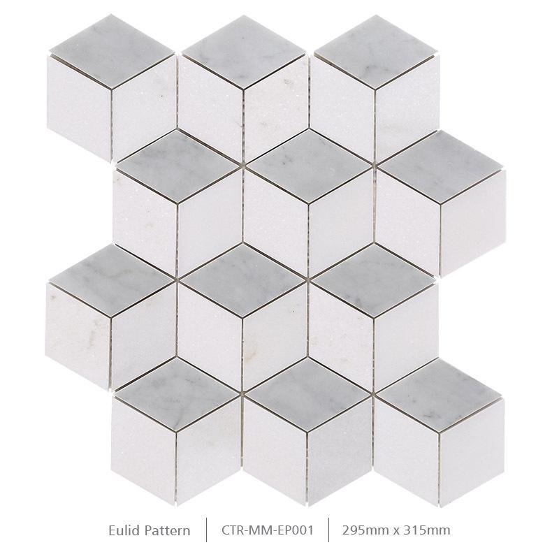 광택 흰색 타 소스 큐브 차원 비- splip 욕실 벽과 바닥 모자이크 ...