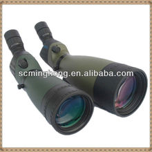 Zoom spotting scopes with large eyepiece