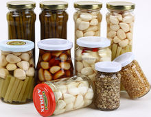 all kinds of taste garlic products in glass bottle