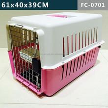 Plastic pet carrier/ pet cage travel