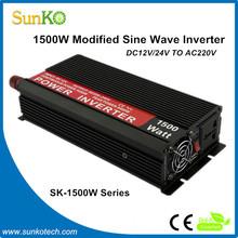 1500W Solar Inverters For Solar Power DC12V TO AC220V 12V Power Supplies CE RoHS Compliant SunKo Inverter