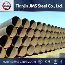 SSAW Q235 Q345 schedule 40 seamless black steel pipes