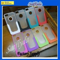 For new iphone 5 case two-tone color TPU+PC case with logo hole