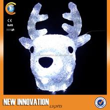 Polyresin Wall-Mounted Acrylic Deer Animal Head Wall Decoration
