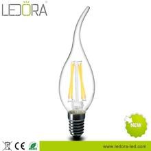 Hot !!!3.5w 2200k 2700k 120v dimmable e12 Candle led filament bulb light