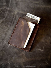 Genuine leather Credit Card Holder. Thin Unisex card Wallet. Minimalist Front Pocket Wallet.