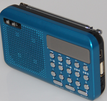 2014 shenzhen Portable mini radio fm with LCD display