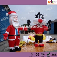 Freely walking inflatable moving santa claus cartoon characters