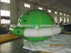 Customized green inflatable saturn for water climbing