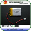 2015 hot sale high quality and chaep lp battery 3.7v 500mah gps battery 503035 / 652535 3.7v lipo battery for gps tracker