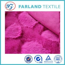 red brushed pile heart-shaped fabric for cloth home textile fabric