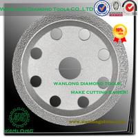 "vacuum brazed 4.5"" diamond tuck point blades for stone cutting,diamond tuck point disc manufacturer"