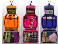 2015 Wholesale bulk custom cheap hanging bathroom use mens folding toiletry bag