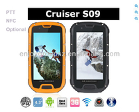 Cruiser S09 IP68 Quad Core Android 4.2 3G 4.3inch Waterproof Mobile Phone NFC PTT Sports Waterproof