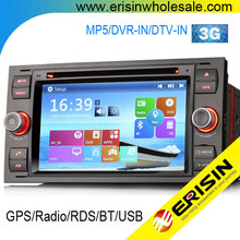 "2015 NEW Erisin ES7066F 7"" C MAX Car Radio Navigation CD DVD Player"