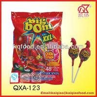 20g Twist Fruity Bubble Gum Big Bom XXL Lollipop China