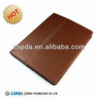 PU leather back stand cover case for the new Ipad 3 case