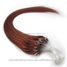 Hot selling direct factory wholesale 100% real human remy micro-ring hair extension