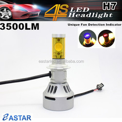 Hot selling H7 no fan led head light motorcycle