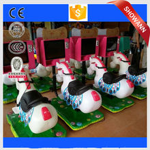 kiddie ride horse racing game machine, video horse machine for sale