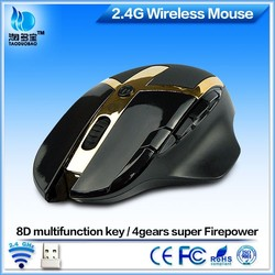 Deluxe Computer 1600DPI Optical USB 8D Gaming 2.4Ghz Mouse Wireless