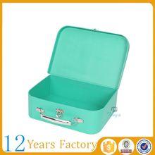 custom green mini paper suitcase boxes
