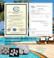 70%' Swimming Pools Chlorine Tablet, Sodium Process