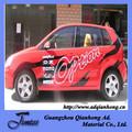 publicidad etiqueta engomada del coche