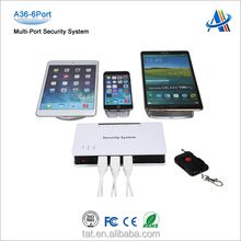 Open display merchandises protection systems,multi-port security stand devices for cell phone/tablet
