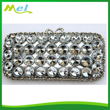 swarovski crystal nylon clutch bags for sexy lady wholesale hardcase