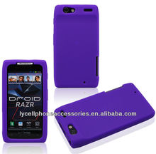 Purple Skin Cover Mobile Phone Accessory For Motorola XT910 Silicone Gel Case