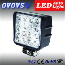 ovovs 4'' 12v 24v square led work light 48w led driving light for auto car accessories