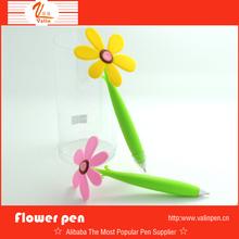 Cute sunflower pvc stand desk ball pen