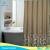 brown background points printed shower curtains