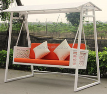 all weather rattan outdoor patio swing with canopy