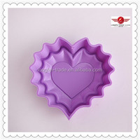 Hot Sale Heart Shape Party Mold Silicone Cake With Low Price