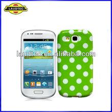 Glossy Big Polka dots Soft TPU Gel Case Cover Skin for Samsung Galaxy S3 mini,High quality -----Laudtec