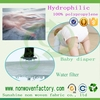 Hydrophilic pp spunbond nonwoven fabric baby diaper raw material water absorbing material