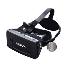 Virtual Reality VR Headset imax 3D Video Glasses Google Cardboard Plastic Version for 3d Movies Games 3.5-6 Inch Iphone Samsung