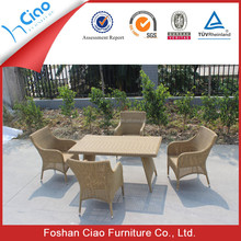 Classical chair resin rattan table set garden used furniture