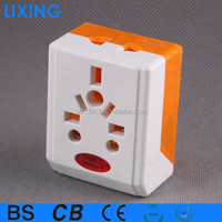UK 3 pin to european 2 pin adaptor plug with kema keur/plug socket